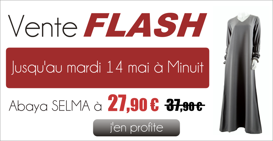 Vente flash abaya selma 27 90 au lieu de 37 90 - Discount vente flash ...