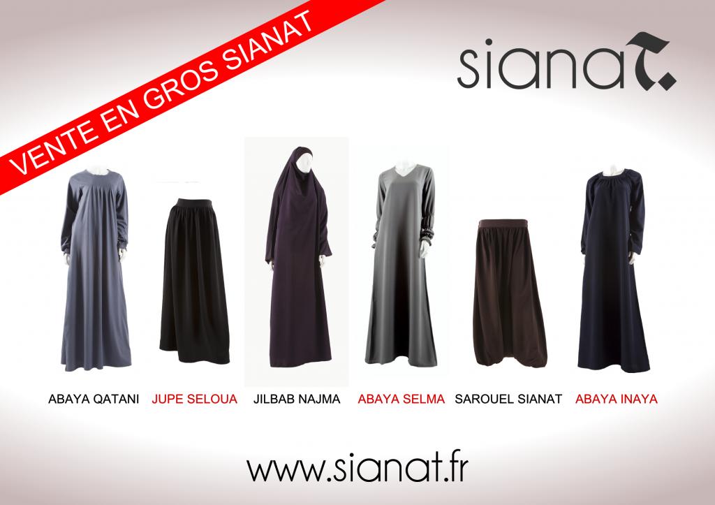 Vente en gros vêtements islamiques femmes
