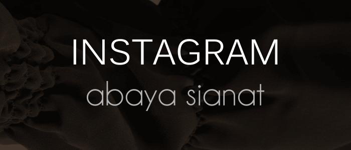 Abaya Sianat Instagram