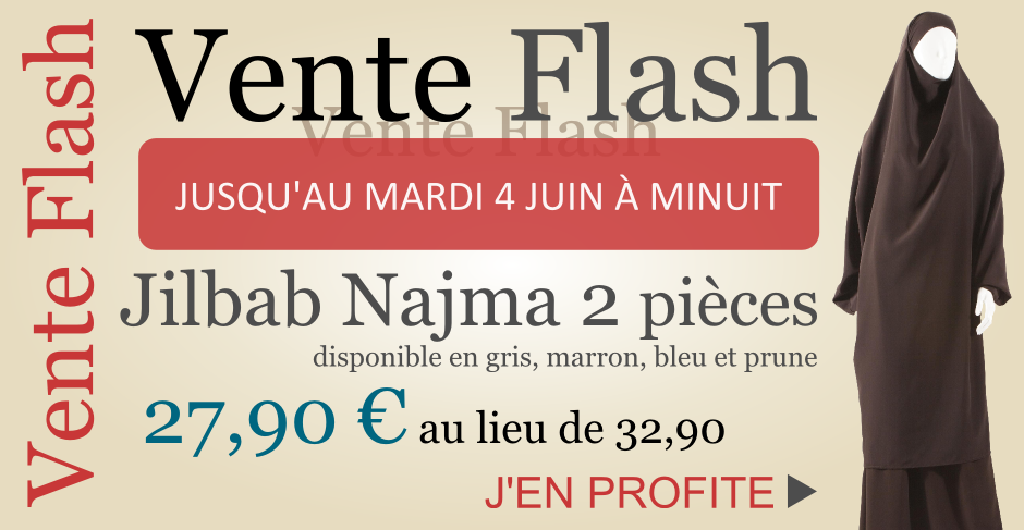 vente flash jilbab 2 pièces Sianat